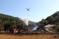 İŞ MAKİNESİ - Gelibolu Yarımadasındaki Yangın Kısmen Kontrol Altında