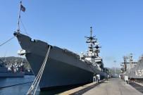 AKSAZ DENIZ ÜSSÜ - İtalyan Savaş Gemisi Aksaz'a Demirledi