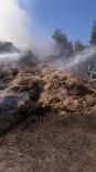 SAMANLıK - Mut'ta Samanlık Yangını