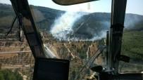 YANGIN HELİKOPTERİ - Tarihi Gelibolu Yarımadası'nda Yangın