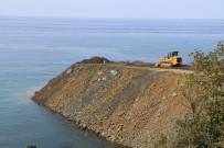 KARADENIZ SAHIL YOLU - Rize-Artvin Havalimanı deniz dolgusu başladı
