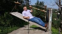 Rizeli Engelli Vatandaş Evine İlkel Teleferikle Ulaşım Sağlıyor