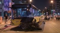 İLK MÜDAHALE - İETT otobüsüyle otomobil çarpıştı: 1 ölü, 3 yaralı