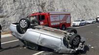 Kontrolden Çıkan Otomobil Takla Attı Açıklaması 1 Ölü, 2 Yaralı