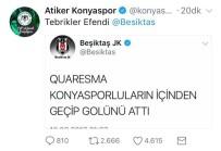 SPOR TOTO - Atiker Konyaspor'dan Beşiktaş'a Yanıt Açıklaması 'Tebrikler Efendi'