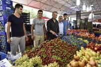 PAZAR ESNAFI - Başkan Uysal, Çağlayan Pazarı'nda