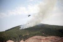 KOCABAŞ - Denizli'deki Orman Yangınında Yaklaşık 10 Hektarlık Alan Yandı
