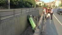 SOMA - Kocaeli'de Otomobil Su Kanalına Uçtu Açıklaması 1 Yaralı