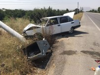 Otomobil Elektrik Direğine Çarptı Açıklaması 3 Yaralı