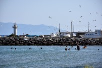 KUMBAĞ - Tekirdağ'da Vatandaşlar Sahile Koşuyor