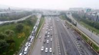 ALTUNIZADE - Trafik Yoğunluğu Havadan Görüntülendi