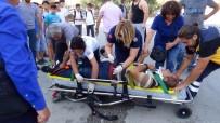 GÖRGÜ TANIĞI - Yaralanan Sürücü Eşinin Elini Bir An Olsun Bırakmadı