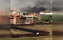 YANGINA MÜDAHALE - 5 Katlı Binanın Çatı Katı Alev Alev Yandı