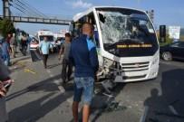 ALI SıRMALı - Balıkesir'de iki yolcu minibüsü çarpıştı: 41 yaralı