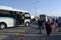 YOLCU MİNİBÜSÜ - Edremit'te minibüs kazası: 11'i öğrenci 21 yaralı