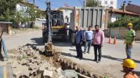 ELEKTRİK HATTI - Hisarcık'ta Elektrik Hatlarını Yer Altına Alma Çalışmaları Başladı