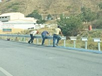 SULAMA KANALI - Sungurlu-Kırıkkale Karayoluna Bariyerli Önlem