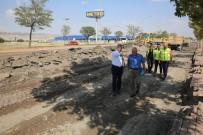 SERBEST BÖLGE - Başkan Çelik, Serbest Bölge'den Anbar'a Kadar Olan Yoldaki Yenileme Çalışmalarını İnceledi