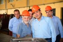 SANAYİ SİTESİ - Başkan Sözlü Metal Sanayi Sitesi'nde İşçilerle Yemek Yedi