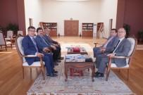 FAKÜLTE - Kaymakam Yaman Ve Başkan Bakıcı Yeni Fakülte Binası İçin Rektör Taş'ı Ziyaret Etti