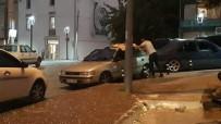 Kocaeli'de Dolu Ve Sağanak Yağış Sürücülere Zor Anlar Yaşattı