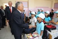 OKUL ÇANTASI - Melikgazi'den Okullara Kırtasiye Ve Çanta Yardımı