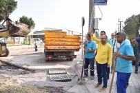 Menderes Bulvarı'nda Yol Yapım Çalışmaları Bitiyor