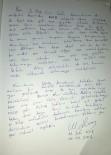 HELAL - Osmaniyeli Şehit Sefa'nın, Şehit Ömer Halisdemir'e Yazdığı İlginç Mektup