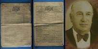 ANTALYA BELEDİYESİ - Antalya'da 100 Yıl Öncesinin Gazetesi Bulundu