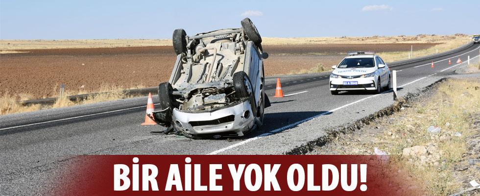 Takla atan otomobilde bir aile hayatını kaybetti