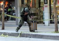 ŞÜPHELİ PAKET - Kabloyu Gören Polisi Aradı, Çöpteki Paket Fünye İle Patlatıldı