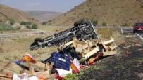 Sebze Yüklü Kamyonet Şarampole Yuvarlandı Açıklaması 2 Yaralı