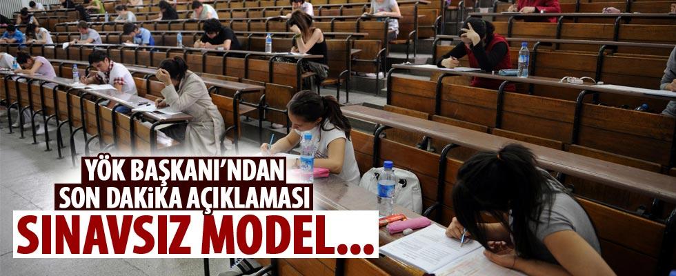 YÖK'ten son dakika 'sınavsız üniversite' açıklaması