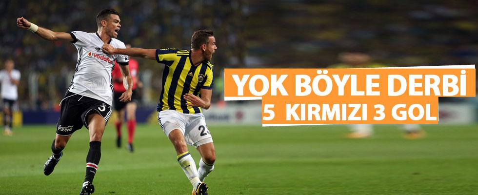 Fenerbahçe Beşiktaş maçında DÖRT kırmızı kart ve ÜÇ gol var!