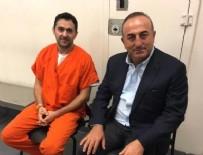İZİNSİZ GÖSTERİ - Çavuşoğlu, Washington'da tutuklu 2 Türk'ü ziyaret etti