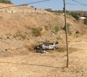 KARAGEDIK - Şarampole Yuvarlanan Otomobil Alev Alev Yandı