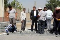 ÇÖMLEKÇI - Erhan Caddesinde Üst Yapı Çalışması Başladı