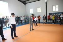 MEHTER TAKIMI - Vali, Milletvekili, Belediye Başkanı Maske Taktı, Goalball Oynadı