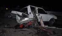ALKOLLÜ SÜRÜCÜ - Zincirleme Kazada Otomobil Hurdaya Döndü Açıklaması 1 Yaralı