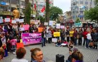 KADINA YÖNELİK ŞİDDETLE MÜCADELE - Kadınlardan Minik Zeynep'in Öldürülmesine Tepki