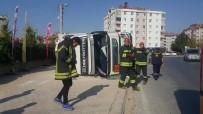 KOSOVA - Konya'da 5 Ton Sıvılaştırılmış Gaz Yüklü Tanker Devrildi