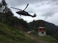ASKERİ HELİKOPTER - Heyelanda Yaralanan Anne Askeri Helikopterle Kurtarıldı