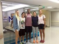 KADIN BASKETBOL TAKIMI - Kadın Basketbol Milli Takım Oyuncuları Sağlık Kontrolünden Geçti