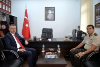 ASKERLİK ŞUBESİ - Vali Büyükakın Ve Garnizon Komutanı Akdoğan Bir Araya Geldi