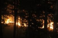 İzmaritten Çıktığı Tahmin Edilen Yangın 7 Saattir Devam Ediyor