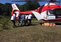 YEŞILTEPE - Kazada Yaralanan Kadın Ambulans Helikopter İle Hastaneye Kaldırıldı