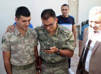 MEHMETÇIK - Sınır Nöbetindeki Askere Bayram Sürprizi