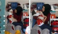 CUMHURIYET ÜNIVERSITESI - Sağlık Görevlisinden Yaralı Çocuğa Anne Şefkati