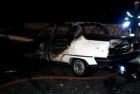 GÜLLÜBAHÇE - Söke'de Otomobil Bir Anda Alevler İçinde Kaldı