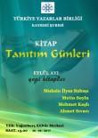 ŞİİR KİTABI - Türkiye Yazarlar Birliği Eylül'de 4 Yazar Tanıttı